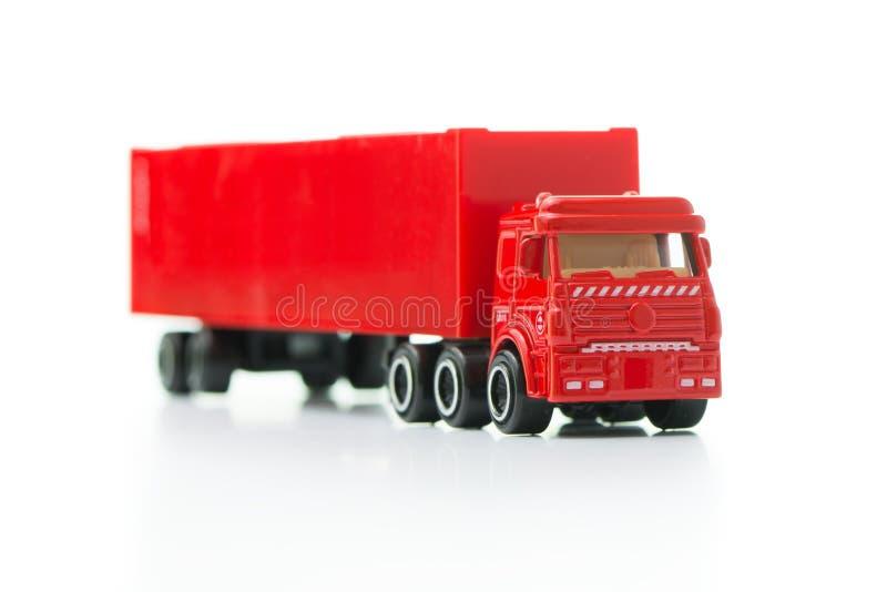 czerwona ciężarówka ciężarówka zdjęcia stock