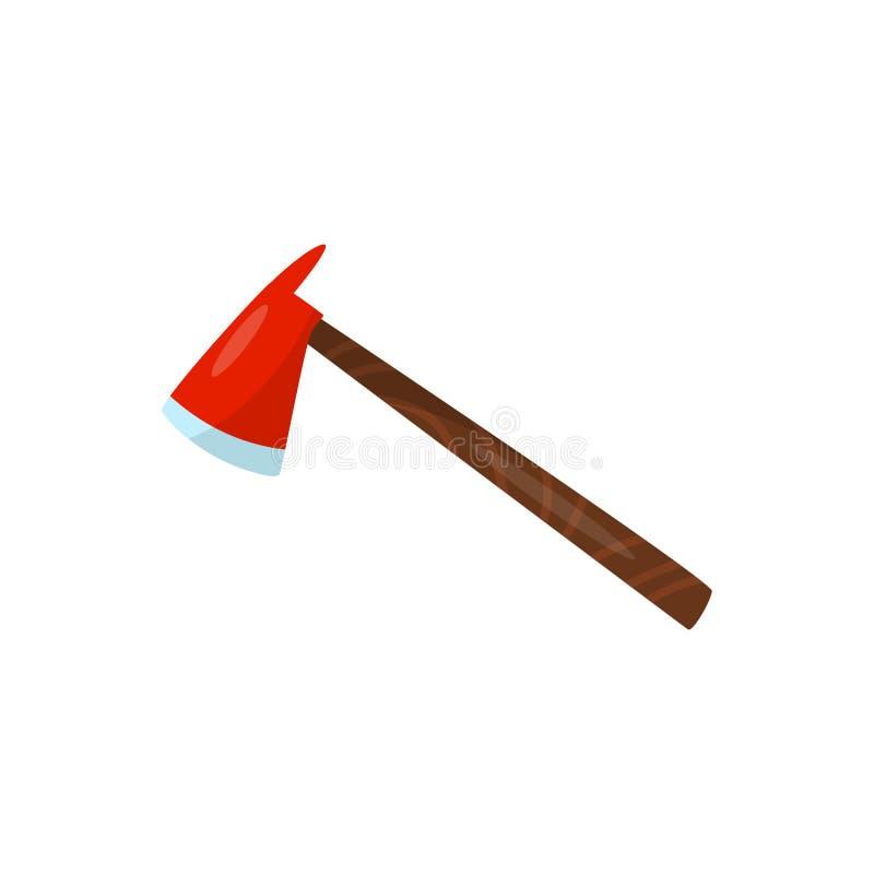 Czerwona cioska, wyposażenie strażak wektorowa ilustracja na białym tle royalty ilustracja