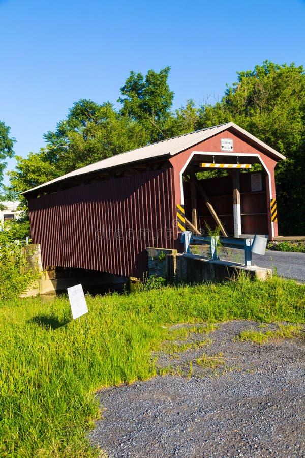 Czerwona dolina Zakrywający Landis most zdjęcie stock