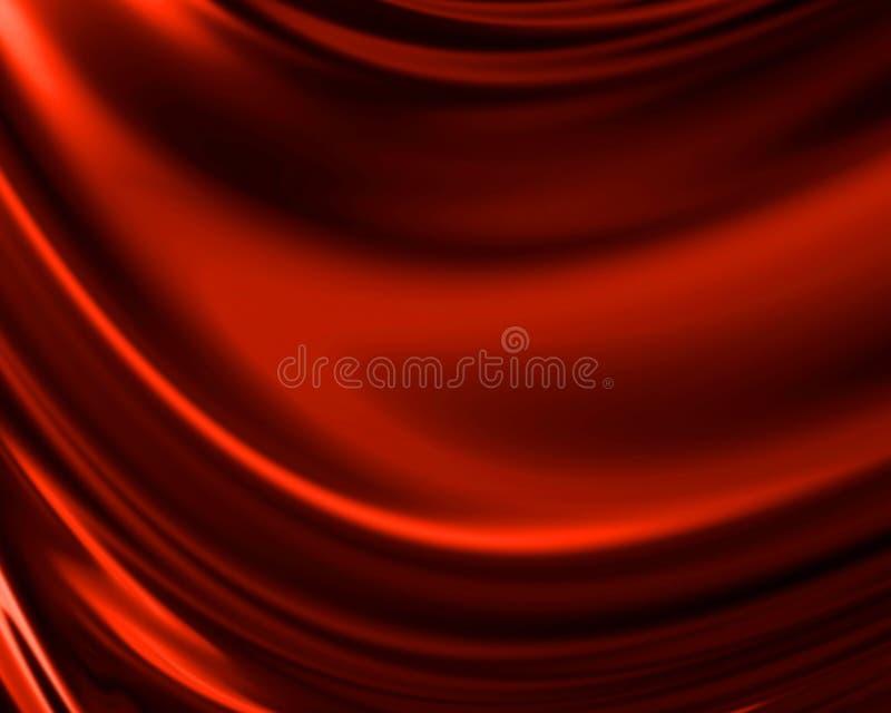 Czerwona draperia ilustracja wektor