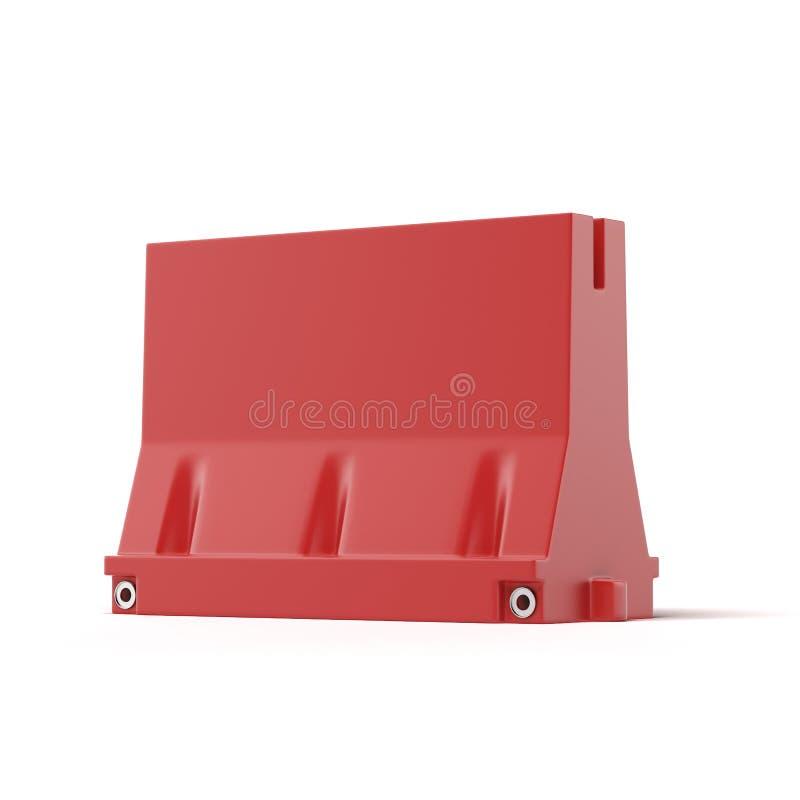 Czerwona drogowa bariera ilustracja wektor
