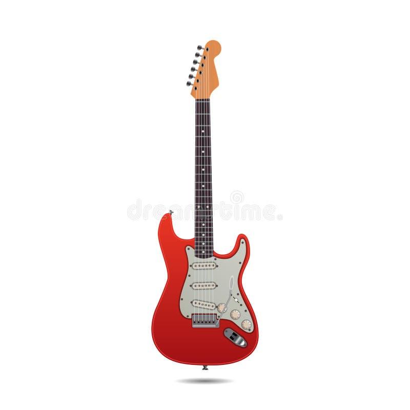 Czerwona Electro gitara ilustracja wektor