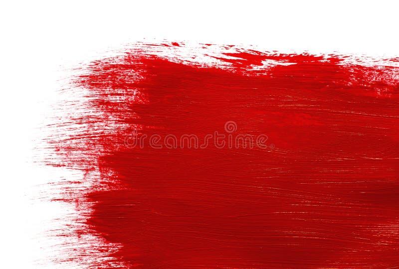 Czerwona farba fotografia royalty free