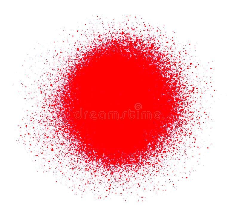 Czerwona farba ilustracji