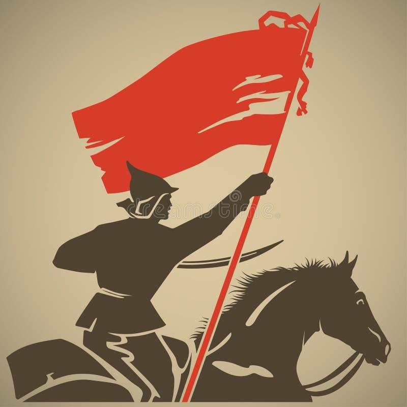 Czerwona flaga ilustracja wektor