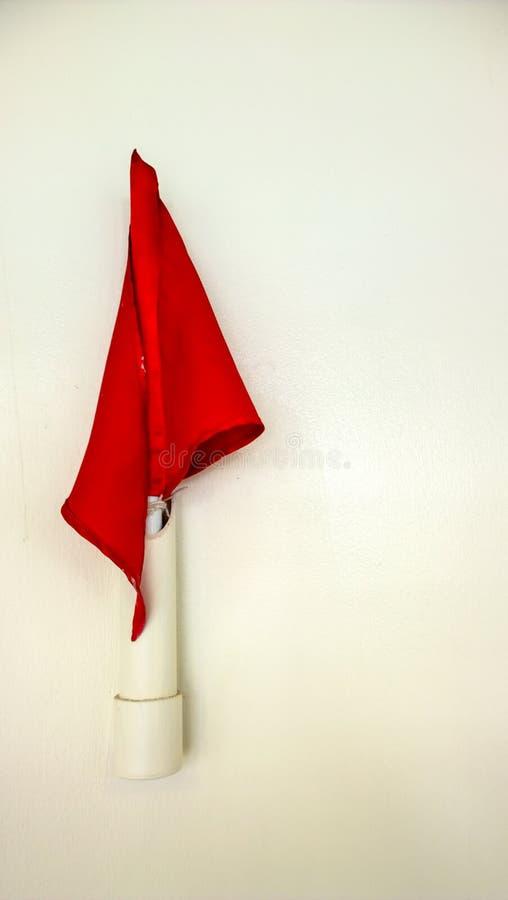 Czerwona flaga obrazy royalty free