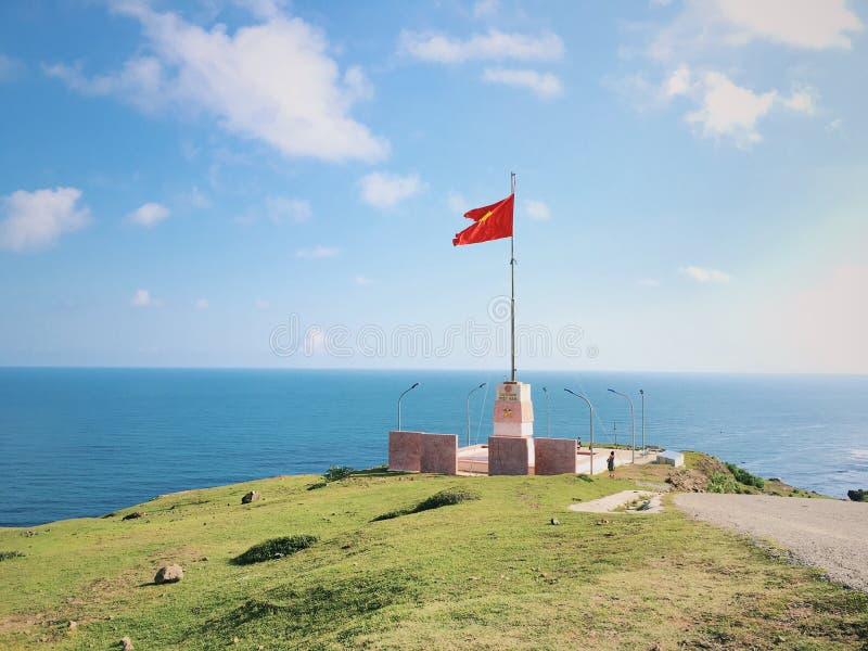 Czerwona flaga fotografia stock