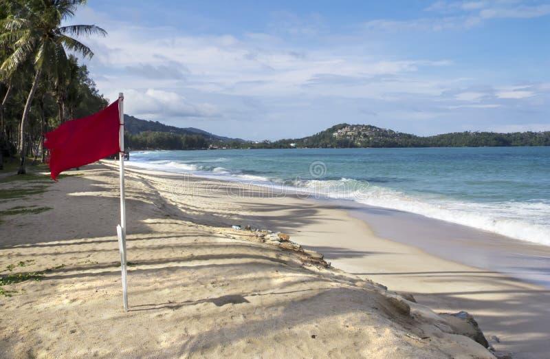 Czerwona flaga, uderzenie Tao obraz royalty free