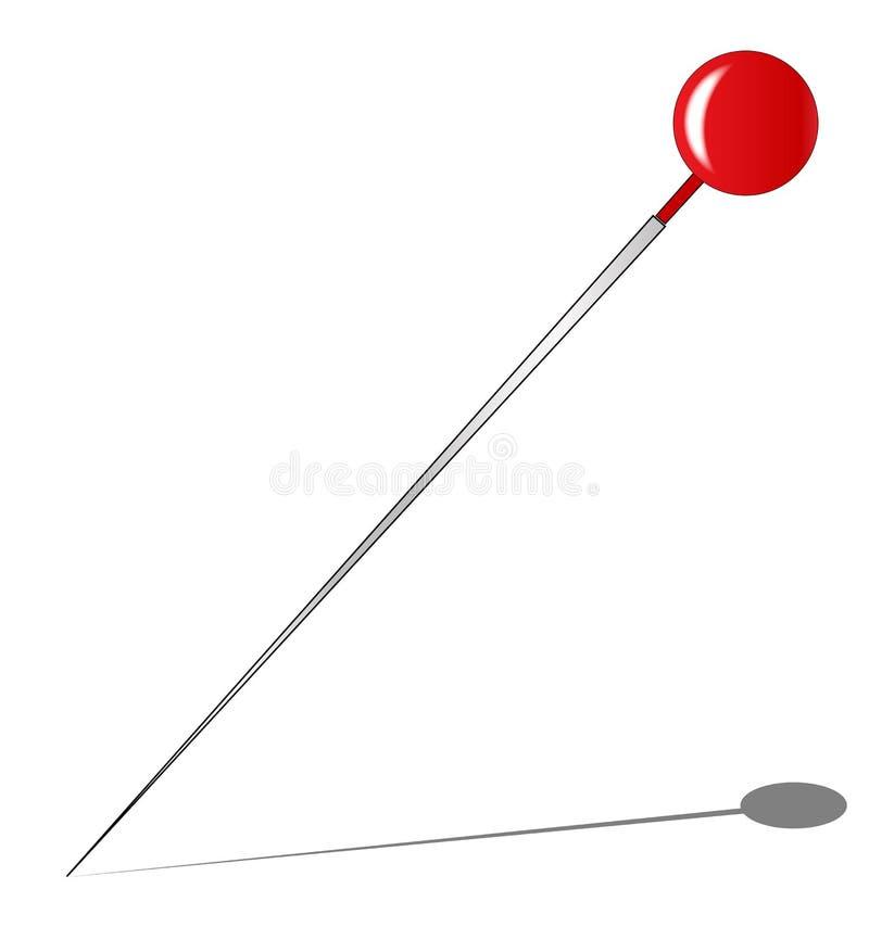 Czerwona gałeczki szpilka royalty ilustracja