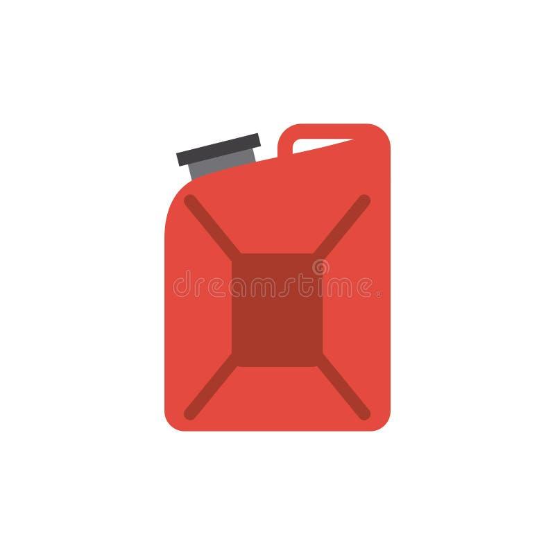 czerwona galon ikona ilustracja wektor