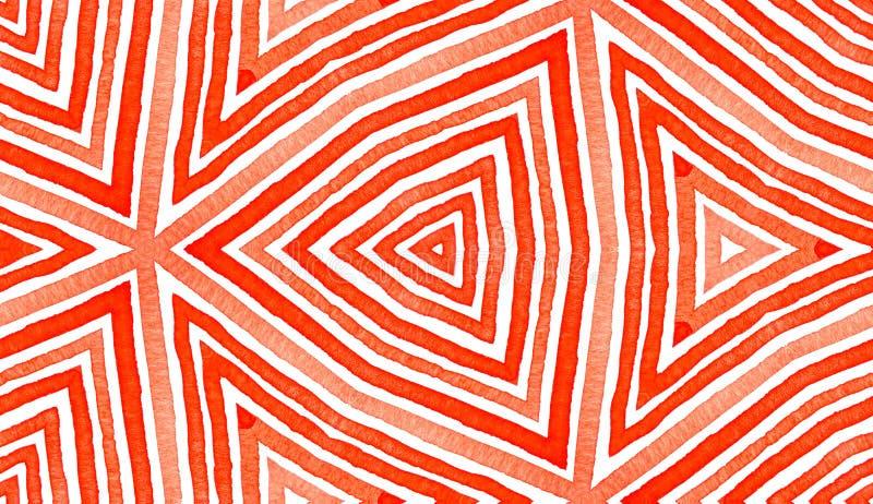 Czerwona Geometryczna akwarela Boski Bezszwowy wz?r ilustracji