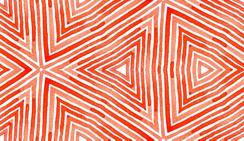 Czerwona Geometryczna akwarela Boski Bezszwowy wz?r ilustracja wektor