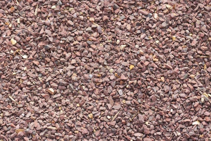 Czerwona granitowa kruszka, tło, tekstura, czerwone Burgundy kamienia granule obraz stock