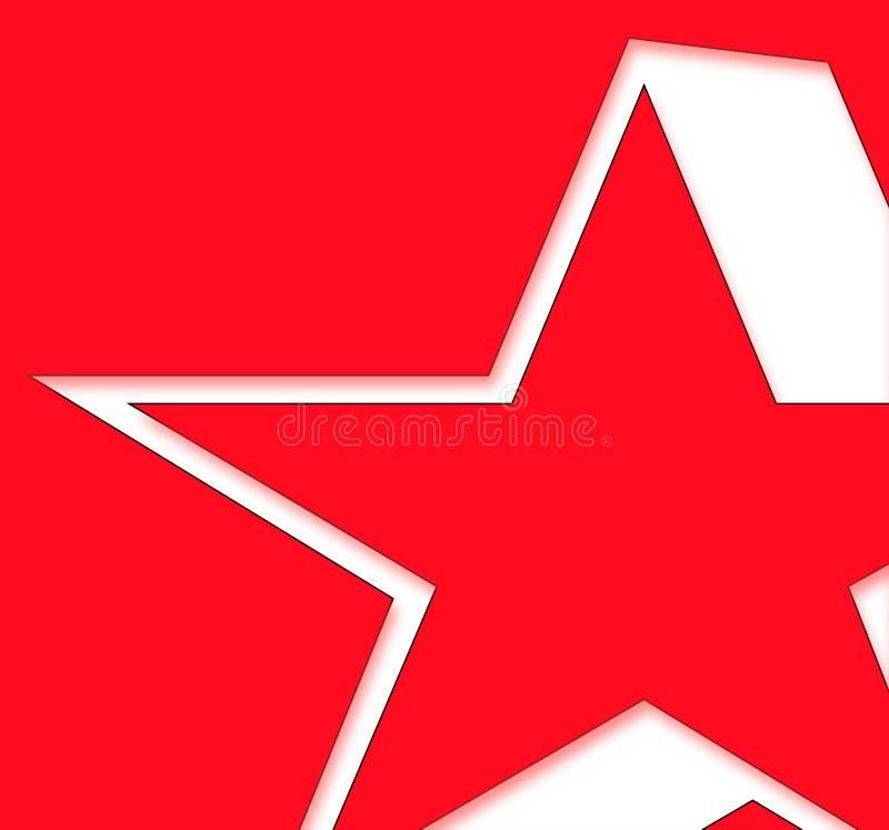 czerwona gwiazda ilustracji