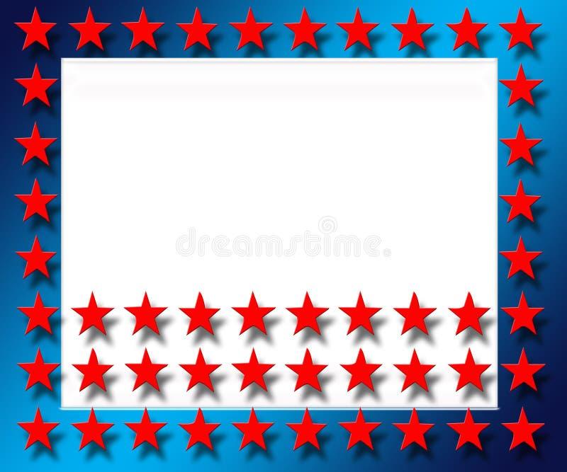 czerwona gwiazda ramowego ilustracja wektor