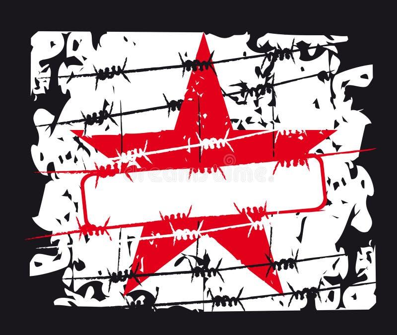 czerwona gwiazda tło royalty ilustracja