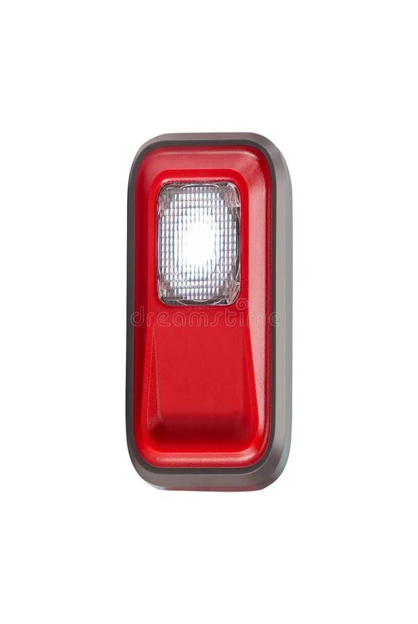 Czerwona headlamp latarka obrazy royalty free