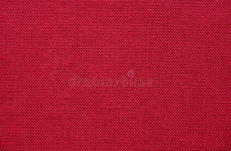 Czerwona hessian tkanina, makro- tło obraz stock