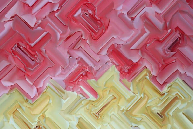 Czerwona i żółta abstrakcjonistyczna tekstura zdjęcia stock