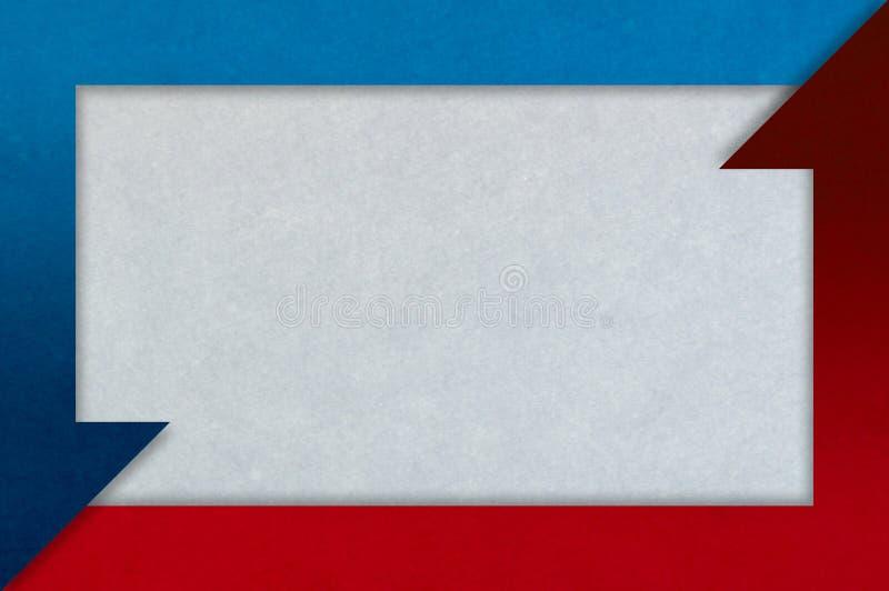 Czerwona i błękitna strzała rama na grunge tle ilustracji