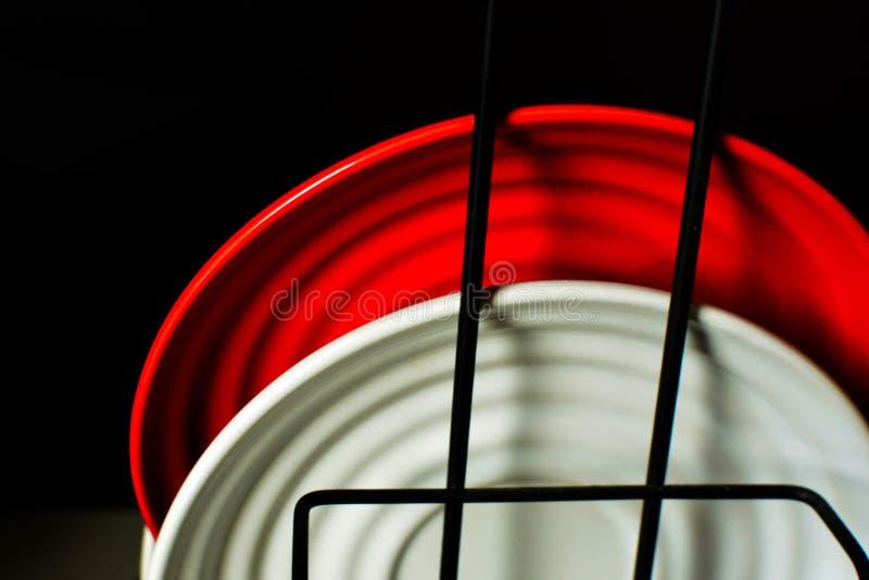 Czerwona i biała kombinacja zdjęcia royalty free