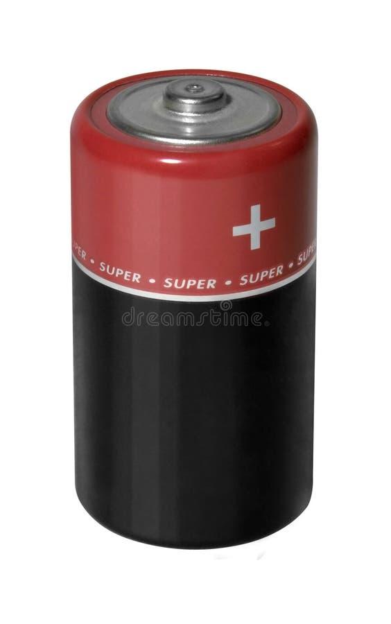 Czerwona i czarna bateria fotografia royalty free