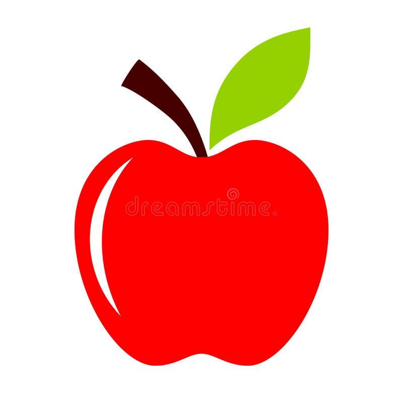 Czerwona jabłczana ikona royalty ilustracja