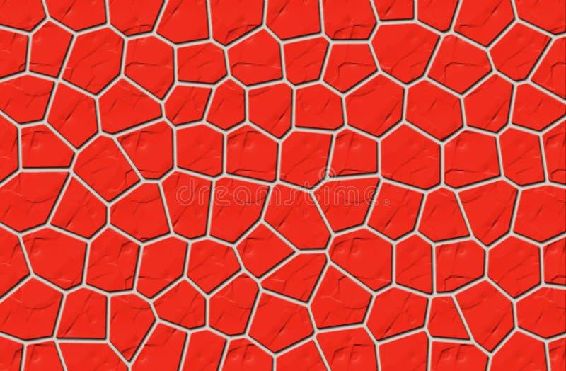 Czerwona Kamienna ściana Obraz Stock