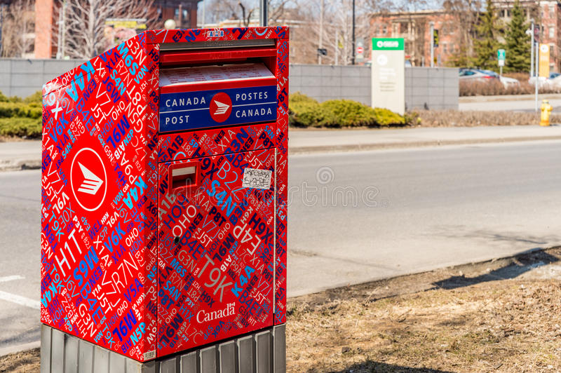 Czerwona Kanada poczta skrzynka pocztowa fotografia stock