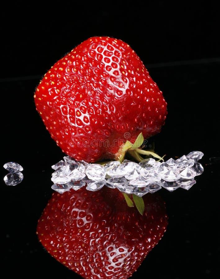 czerwona karowa truskawka zdjęcia stock