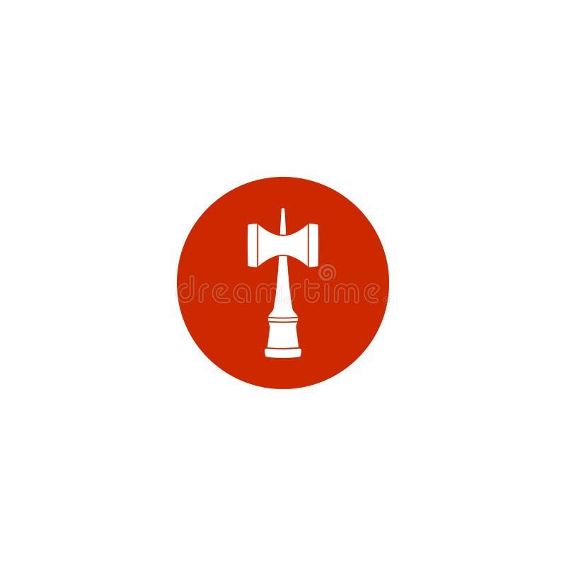 Czerwona Kendama Japonia tradycyjna zabawkarska ikona ilustracja wektor