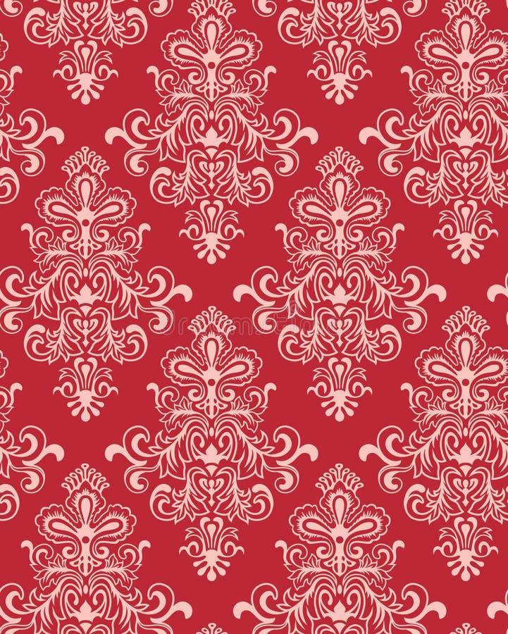 czerwona klasycyzm nosicieli bezszwowa tapeta ilustracji