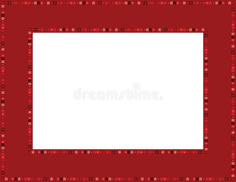 Czerwona klejnot rama royalty ilustracja