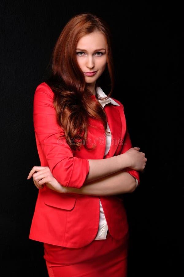 czerwona kobieta zdjęcie royalty free