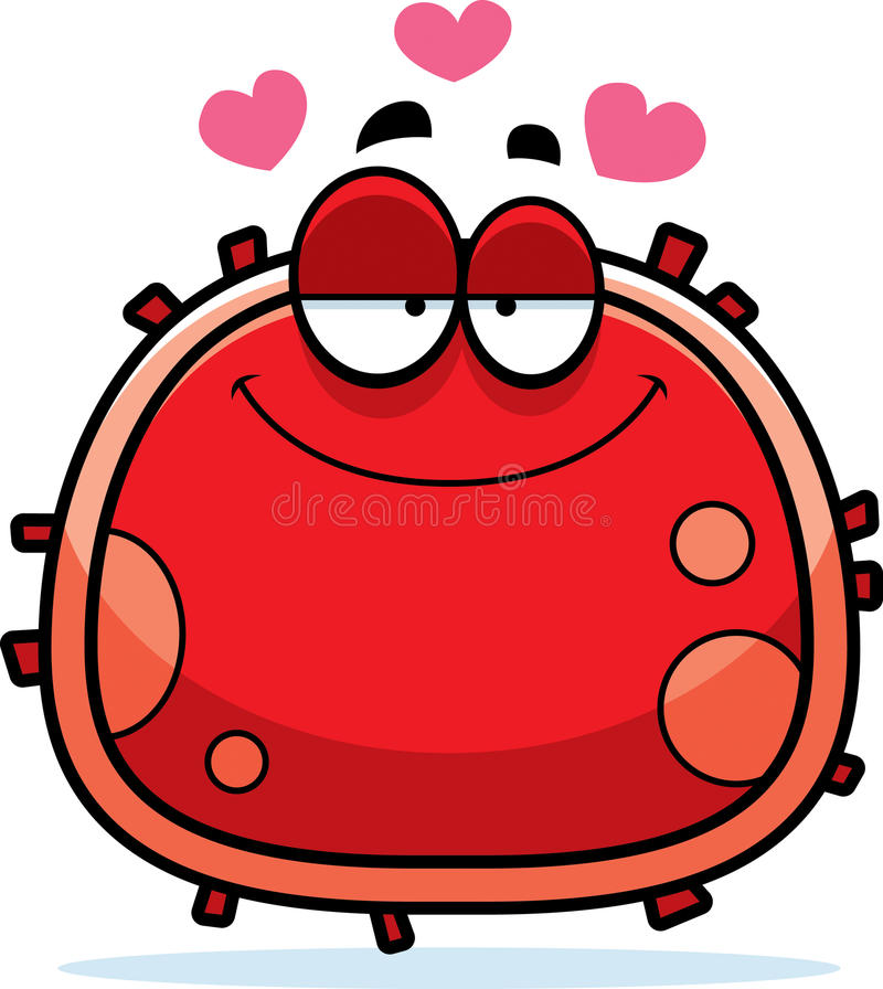 Czerwona komórki krwi miłość royalty ilustracja