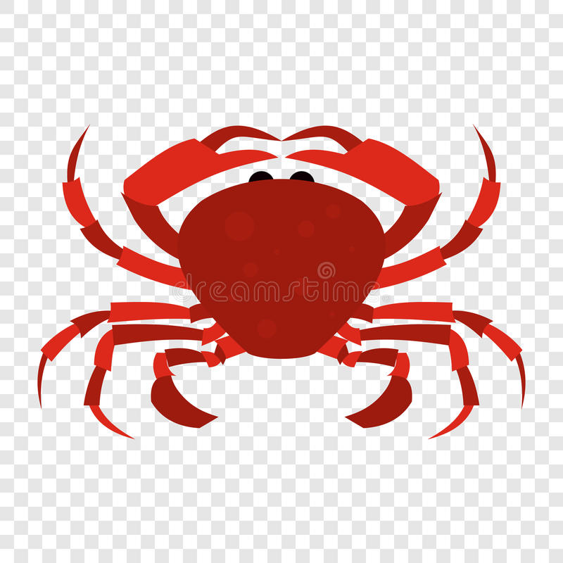 Czerwona krab ikona ilustracja wektor