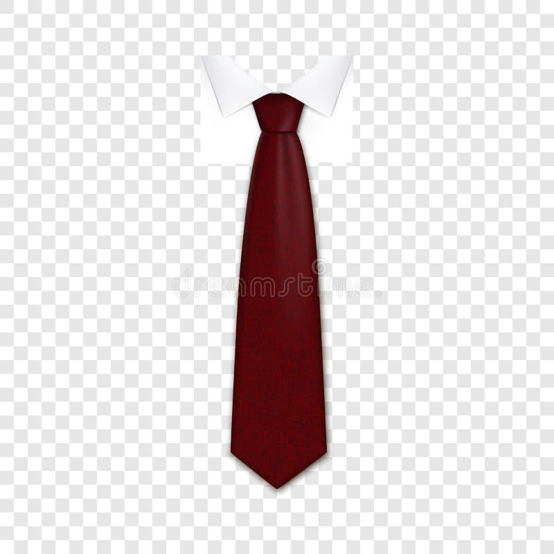 Czerwona krawat ikona, realistyczny styl royalty ilustracja