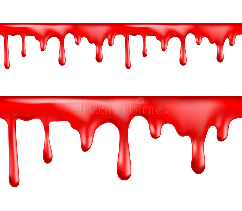Czerwona krew kapie bezszwowych wzory ilustracji