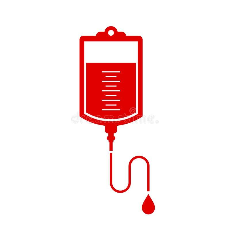 Czerwona krwionośna torba wektoru ikona royalty ilustracja