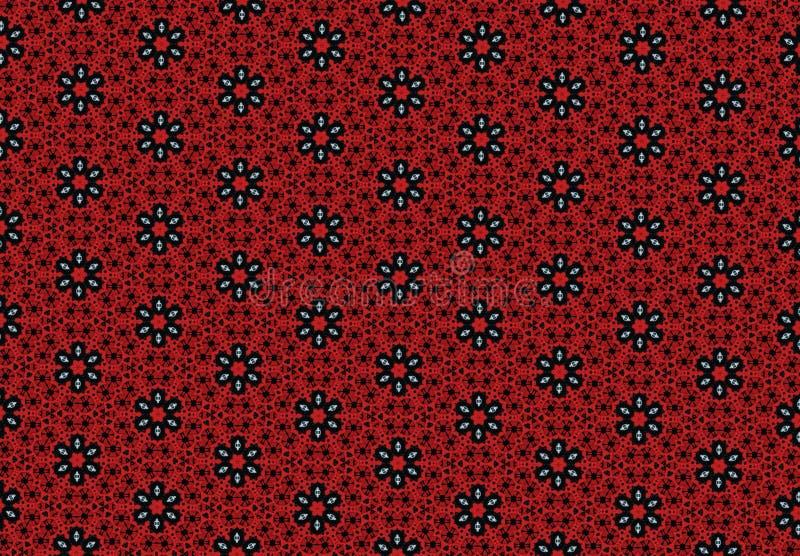 Czerwona kwiatu wzoru tapeta zdjęcie royalty free