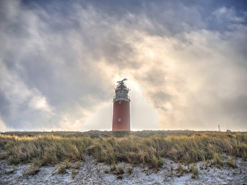 Czerwona latarnia morska fotografia royalty free