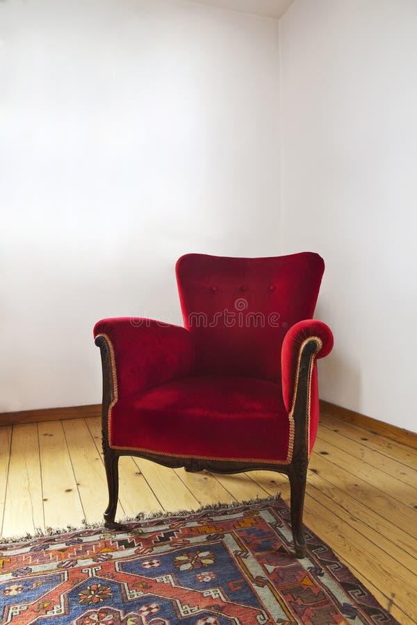 Czerwona leżanka obraz stock