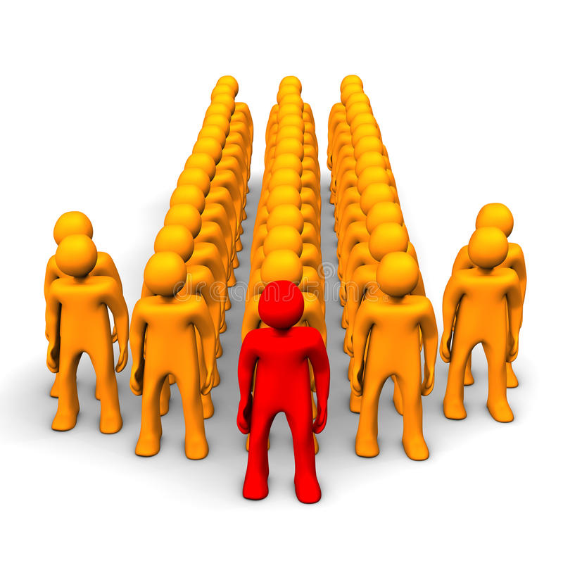 Download Czerwona lider strzała ilustracji. Ilustracja złożonej z charakter - 28971774