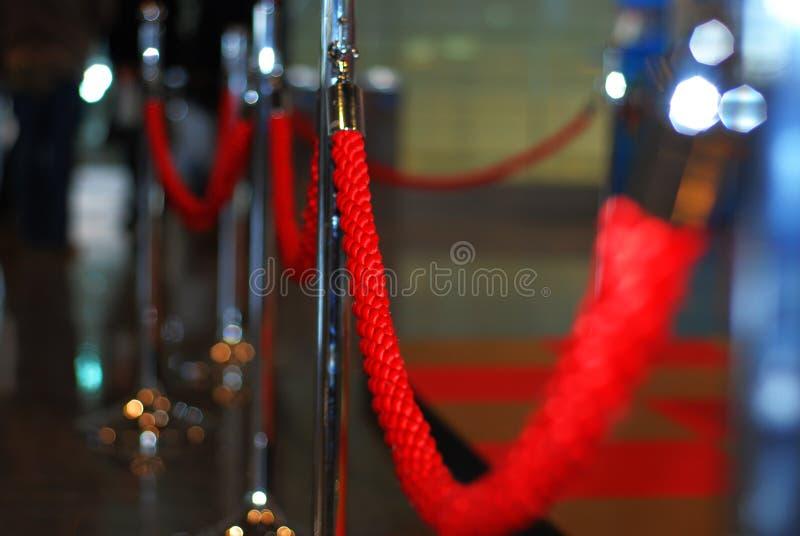 czerwona liny zdjęcia stock