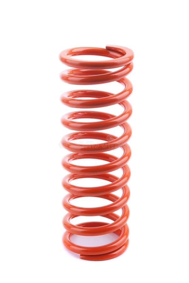 Czerwona metal wiosna zdjęcie stock