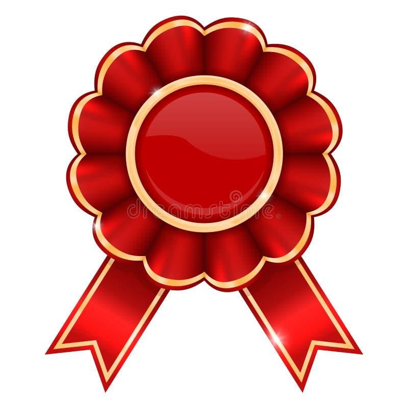 Czerwona nagrody odznaka ilustracja wektor