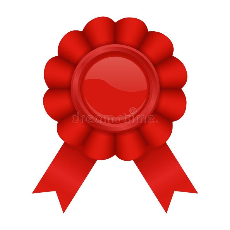 Czerwona nagrody odznaka royalty ilustracja