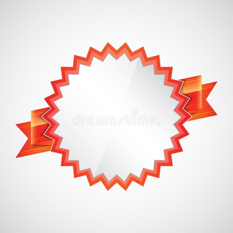 Czerwona odznaka z faborkiem ilustracji