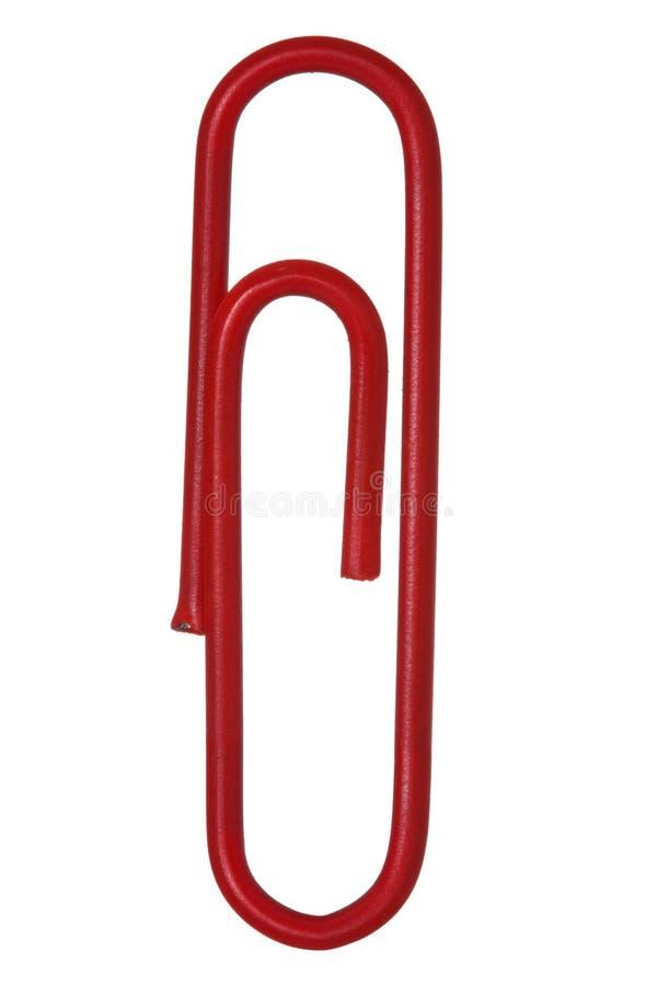 Czerwona papierowa klamerka obrazy stock