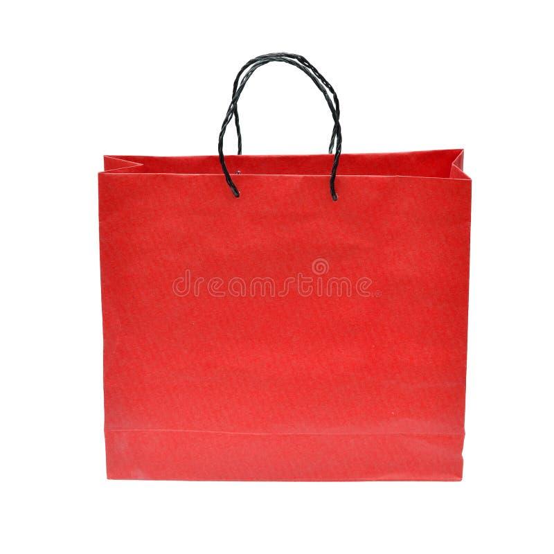 Czerwona papierowa torba obrazy stock